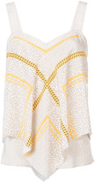 Derek Lam 10 Crosby printed flared tank top