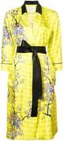 Vionnet long belted blossom coat