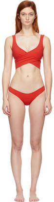 Lisa Marie Fernandez Red Marie-Louise Bikini