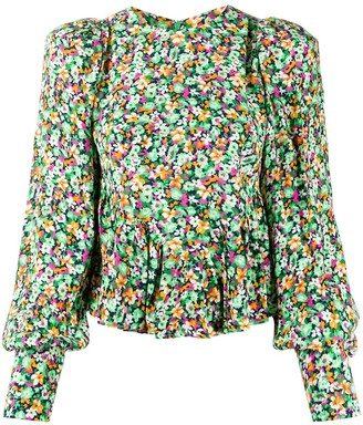 Rotate by Birger Christensen Floral Print Blouse