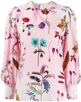 Stella McCartney floral print silk blouse