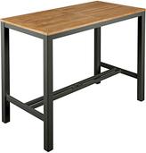 Barlow Tyrie Aura Outdoor 4-Seat Bar Table, FSC-Certified (Teak), Graphite