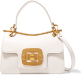 Miu Miu Lips Textured-leather Shoulder Bag - White