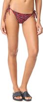 Stella McCartney Leopard Tie Side Bikini Bottoms