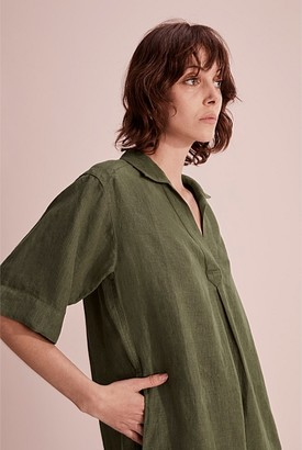 Country Road Organically Grown Linen Popover Dress