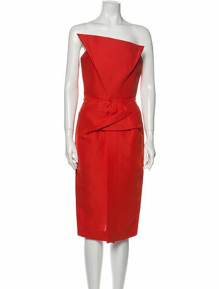 Roland Mouret Strapless Mini Dress w/ Tags Orange