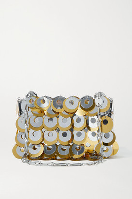 Paco Rabanne Paillette-embellished Chainmail Shoulder Bag - Silver