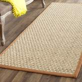 Safavieh Natural Fiber Collection NF114B Natural and Brown Seagrass Runner, 2 feet 6 inches by 8 feet
