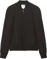 DKNY Cape-effect wool-blend bomber jacket