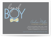 Minted Bow Tie Boy Oh Boy Baby Shower Invitations