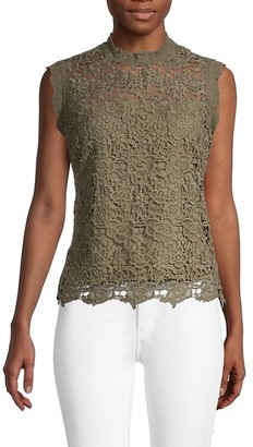 Nanette Lepore Embroidered Mockneck Top