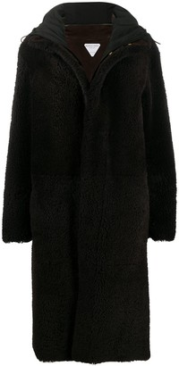 Bottega Veneta Hooded Shearling Coat