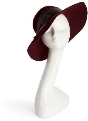 Marzi Rabbit Felt Wide-Brim Hat
