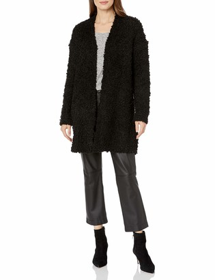 Vince Camuto Women's Poodle Yarn Open Front Cardigan