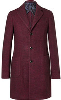 Etro Mélange Wool, Alpaca And Silk-blend Coat - Burgundy