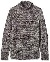 French Connection Men's Twisted Cable Turtleneck Sweater