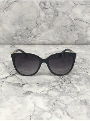 Black Gold Chain Arm Round Sunglasses