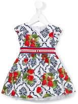 MonnaLisa strawberry print dress