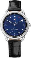 Tommy Hilfiger Women's Casual Sport Black Leather Strap Watch 36mm 1781739