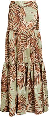 PatBO Palmeira Printed Maxi Skirt