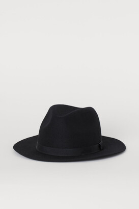 H&M Felted Wool Hat - Black