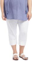 Motherhood Plus Size Secret Fit Belly Straight Leg Maternity Crop Jeans