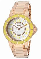 A Line a_line Women's AL-80009-RG-02YL Marina White/Yellow Dial Rose Gold Ion-Plated Stainless Steel Watch