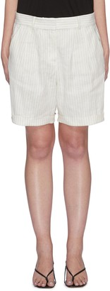 Frame Pinstripe relaxed fit shorts