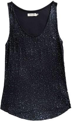 Velvet Navy Glitter Top for Women