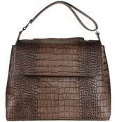 Orciani Women's Brown Leather Shoulder Bag.