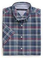 Tommy Hilfiger Men's Custom Fit Plaid Short Sleeve Shirt