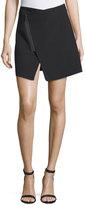 KENDALL + KYLIE Scuba Bonded Wrap Skirt, Black