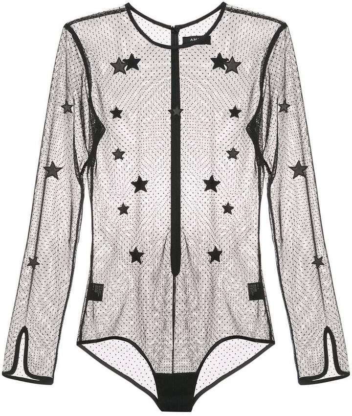 Amiri mesh star bodysuit