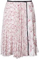 Giambattista Valli pleated floral skirt - women - Silk - 40