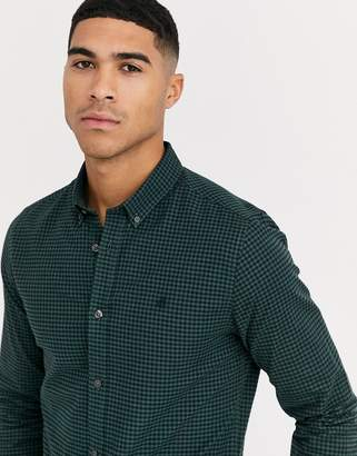 Burton Menswear shirt with black & green gingham check