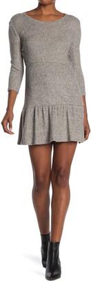 Max & Ash Elbow Length Knit Babydoll Dress