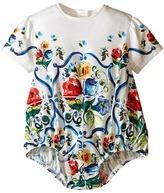 Dolce & Gabbana Escape Maiolica Print One-Piece (Infant)