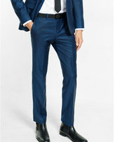 Express slim photographer wool blend houndstooth suit pant