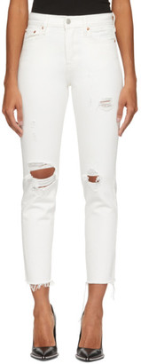 Levi's Levis White Wedgie Icon Fit Jeans