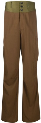 Lanvin Contrast Waistband Cargo Trousers