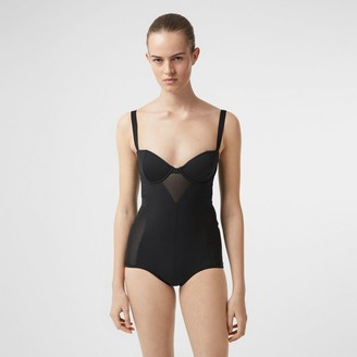 Burberry Mesh Pane Swimsuit