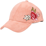David & Young Dusty Pink Floral Embroidered Baseball Cap