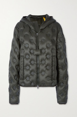 MONCLER GENIUS 1 Jw Anderson Abbotts Hooded Quilted Shell Down Jacket - Army green