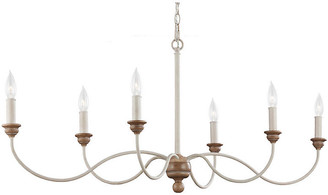 Feiss Palmira 6-Light Chandelier - Chalk Washed