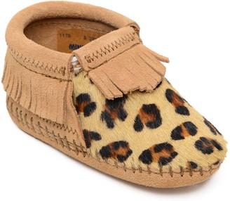 Minnetonka Infant's Leopard Riley Booties