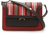 Marni Trunk medium striped-leather shoulder bag