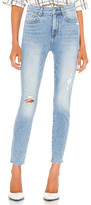 7 For All Mankind High Waist Ankle Skinny with Destroy. - size 25 (also