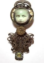 Leocadia Designs Baby Face Butterfly Pin