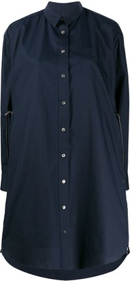 Sacai Extendable Zipped Shirt Dress