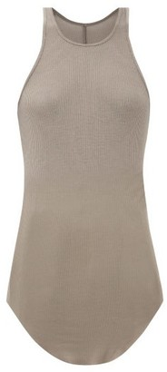 Rick Owens Racer-back Rib-knitted T-shirt - Womens - Grey